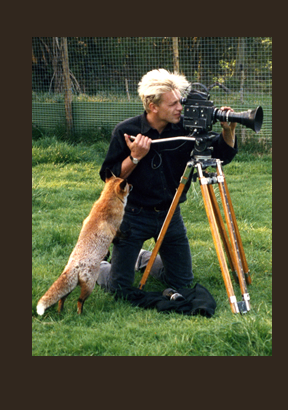 Chris Packham with fox