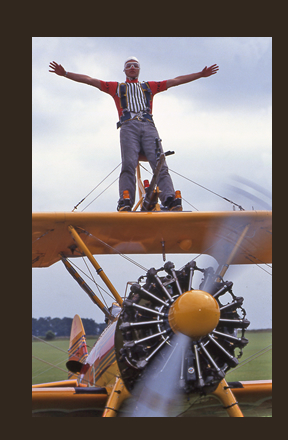 Chris Packham - wing walking