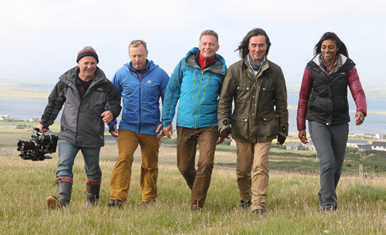 Doug Allan, Andy Torbet, Chris Packham, Neil Oliver, Shini Somara