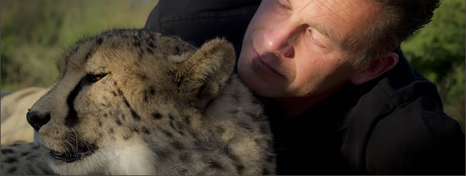 Chris Packham, Television Presenter, with Leopard