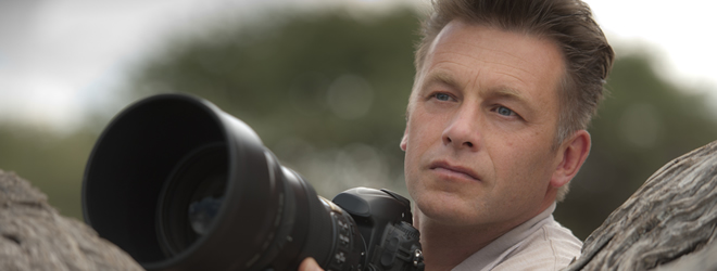 Chris Packham photographing