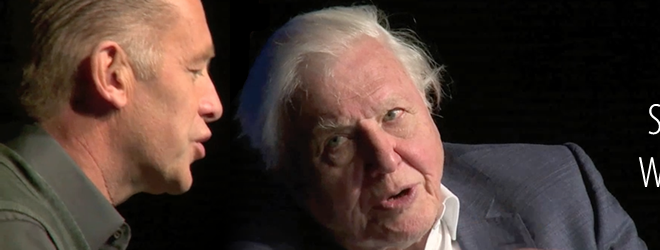 Sir David Attenborough talking with Chris Packham