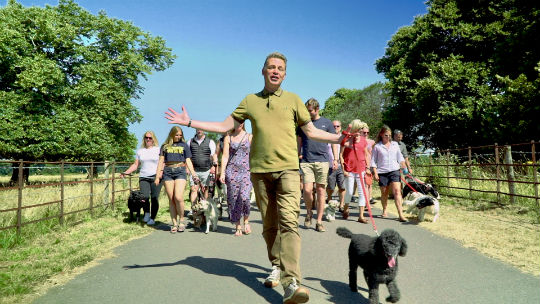 Chris Packham and Scratchy at Dogstival